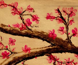 flowers, japan, and art image