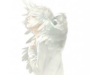 anime, bird, and boy image