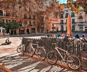 Barcelona, blue, and colourful image