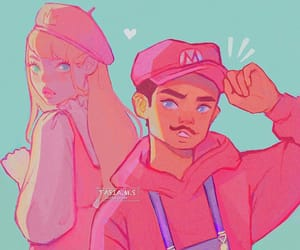 fanart, mario, and princess peach image