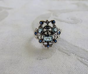 etsy, aquamarine ring, and sterling ring image