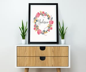 etsy, baby girl name, and flower wreath image