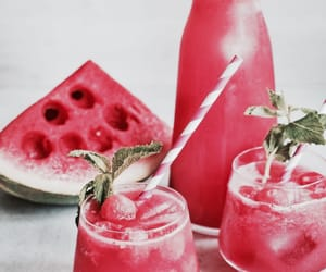 watermelon, drink, and fruit image