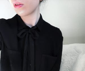 black, blouse, and bow image