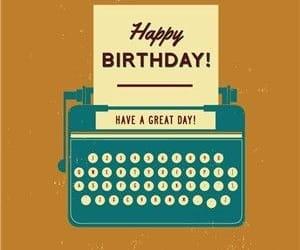 happy birthday, escritores, and escritor image