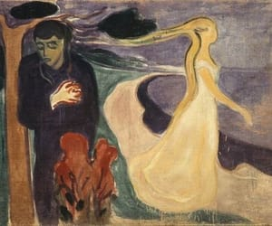 art, munch, and painting image