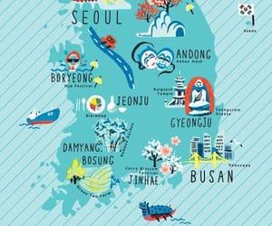 korea, map, and seoul image