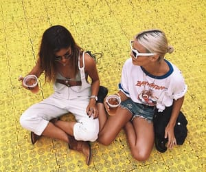 friends, yellow, and girl image