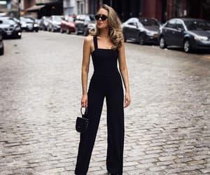 bag, black, and jumpsuit image