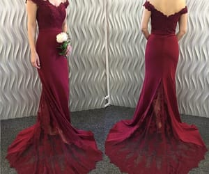 prom dress, bridesmaid dress, and burgundy bridesmaid dress image