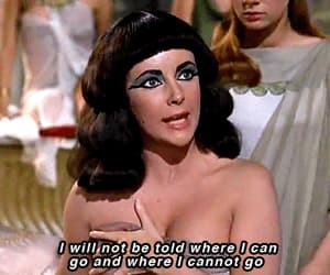 cleopatra, Elizabeth Taylor, and gif image