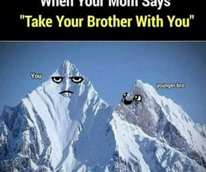 brother, excited, and funny image