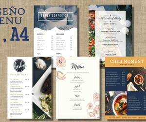 menu, personalizable, and restaurante image