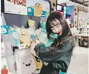 aesthetic, asian girl, and hugging image