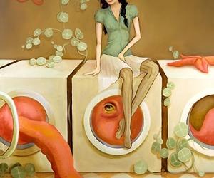 octopus, illustration, and melissa haslam image