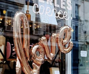 gold, paris, and store image