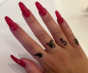 nails, red, and style image