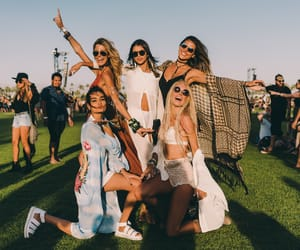 girls, coachella valley, and music festival image