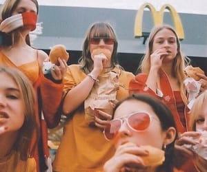 McDonalds, girls, and vintage image