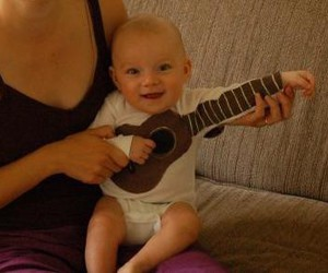 baby, cute baby, and guitat image