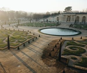 boarding school, versailles, and garden image