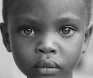 beautiful, eyes, and black image