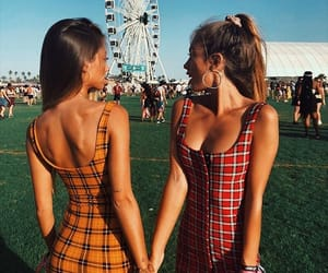 coachella, festival, and friends image