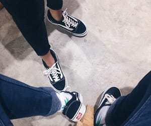 couple, vans, and fallin love image