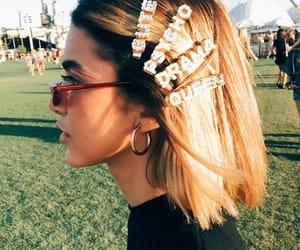 coachella, hair, and fashion image