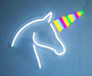 unicorn, neon, and pink image