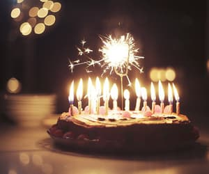 cake, birthday, and candles image