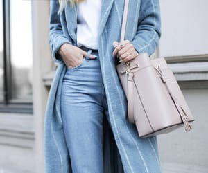 bag, blue, and clothes image