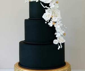 cake, flowers, and food image