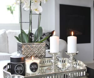 candles, silver, and home decor image