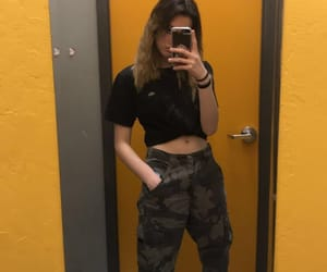 aesthetic, camo, and thrift image