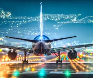 air, city, and ligh image