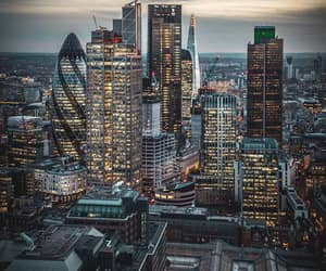 city, lights, and london image