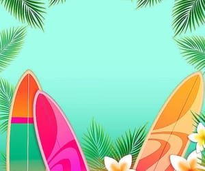 artwork, palm leaves, and poster image