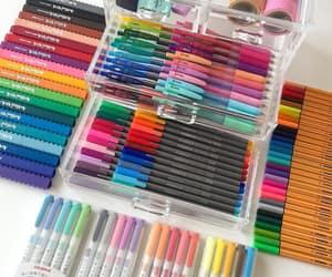 colors, couleurs, and pen image