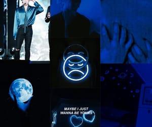 aesthetics, dark blue, and bts image