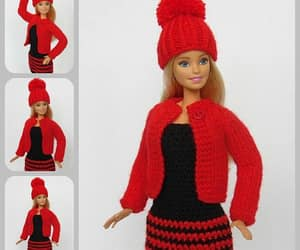 barbie doll, red, and barbie clothes image