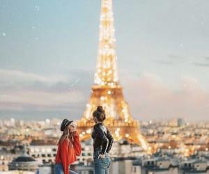 paris, light, and travel image