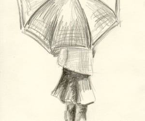 drawing, art, and umbrella image