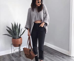 black, clothes, and gray image