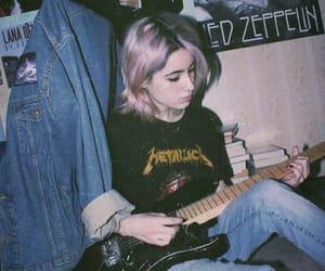 black, metallica, and guitar image