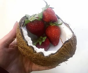 coconut, love, and strawberry image