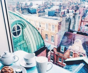 city, indie, and coffee image