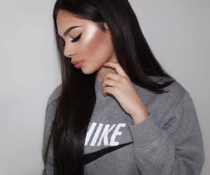 beauty, nike, and hair image