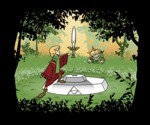 Legend of Zelda and sword in the stone image