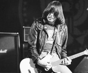 black and white and johnny ramone image